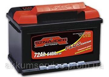 Аккумулятор автомобильный Sznajder Plus +Ca 72AH R+ 640А (57258)