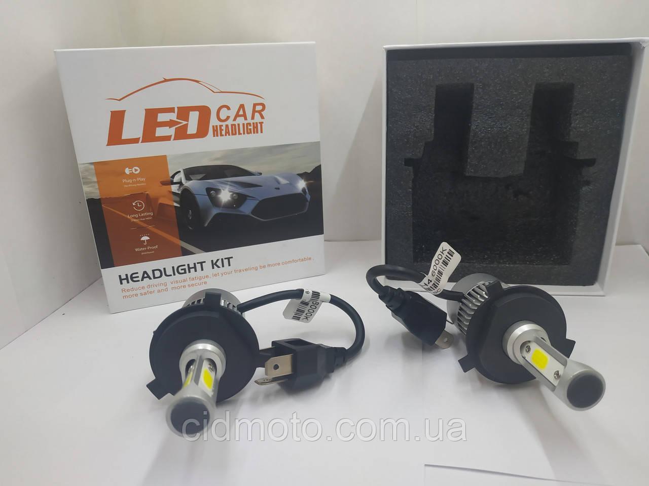 Светодиодные лед лампы (Авто-лампы  LED 6000K) H-4