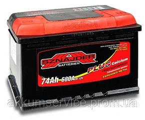 Акумулятор автомобільний Sznajder Plus +Ca 74AH R+ 720А (57412)