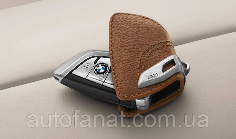 Футляр BMW для ключей со стальным зажимом, оригинальный кожаный (82292408818)