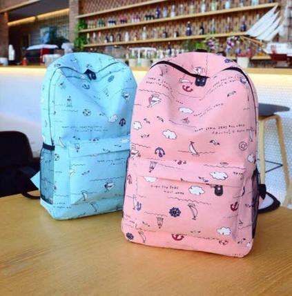 Отличные рюкзаки с узором в кораблики, фото 2