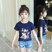 Літні футболки для дівчаток / Летняя футболка для девочек футболки с героями мультфильмов для девочек