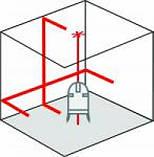 Автоматический лазер 2 с отвесными точками MasterCross-Laser 2P Laserliner 031.360А, фото 10
