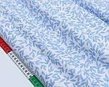 """Лоскут сатина """"Густые бантики и точки"""" голубые на белом, № 1771с, фото 3"""