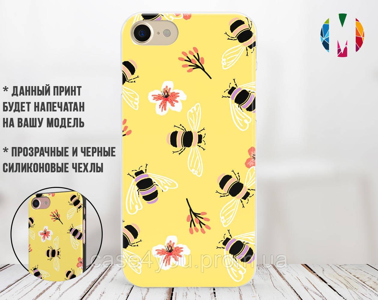 Силиконовый чехол для Apple Iphone XS (Весенние пчелки)