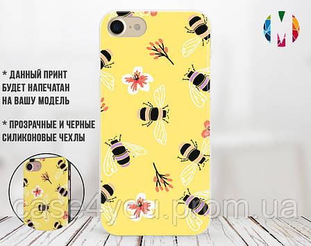 Силиконовый чехол для Apple Iphone XS (Весенние пчелки), фото 2