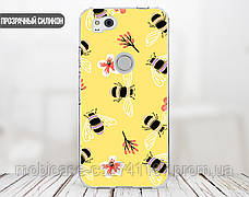 Силиконовый чехол для Apple Iphone XS (Весенние пчелки), фото 3