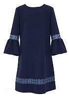Платье школьное для девочки SLY 208/S/19 синє 140-146