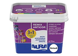 Акриловая эмаль Aura Luxpro Remix Anticor 3в1 Белый 0,75 л (0,9 кг)