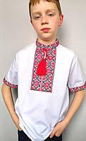 Вышитая рубашка для мальчика короткий рукав