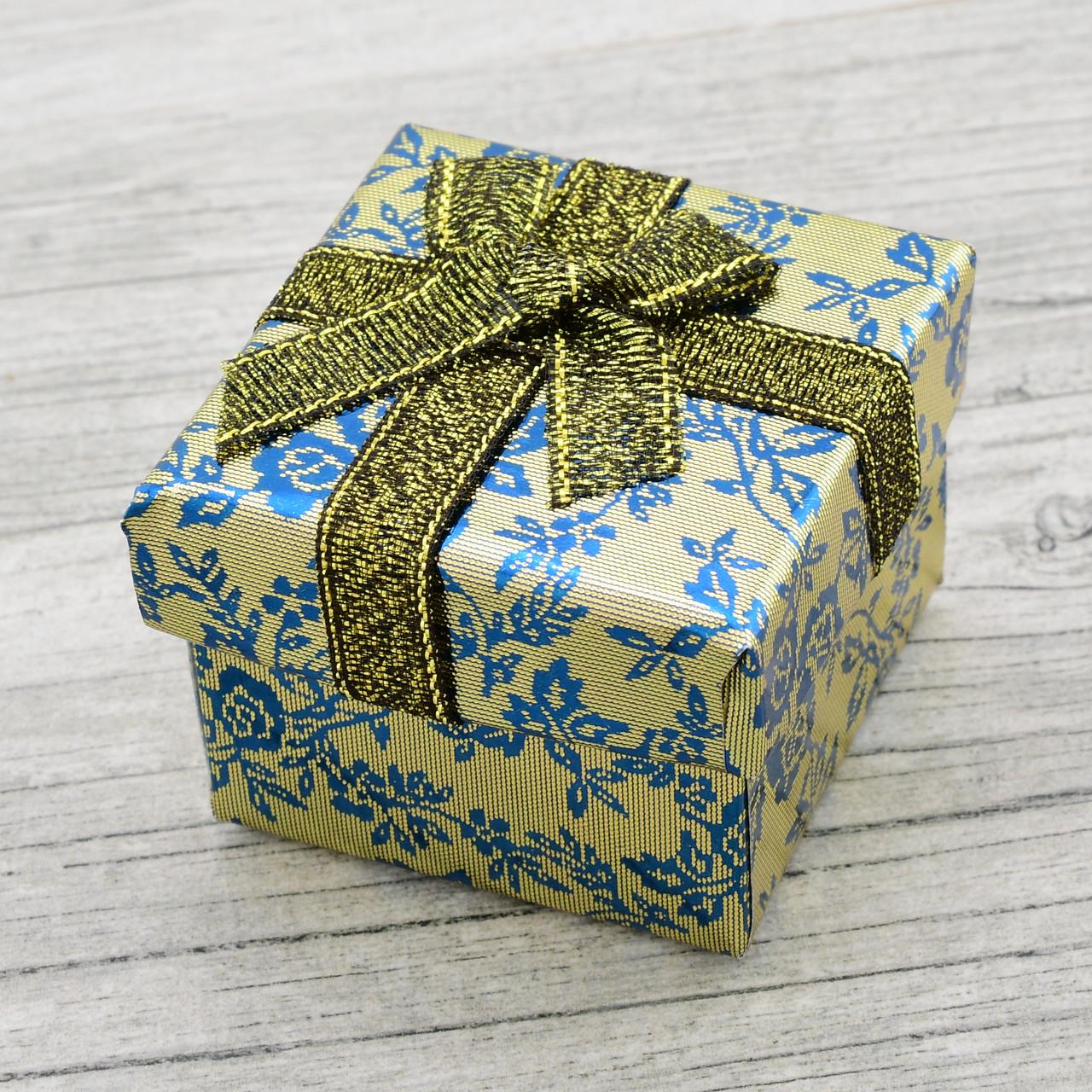 Коробочка для кольца-серег оливковая 741160 размер 5х4 см