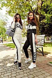 Женский летний костюм с лосинами в стиле DKNY