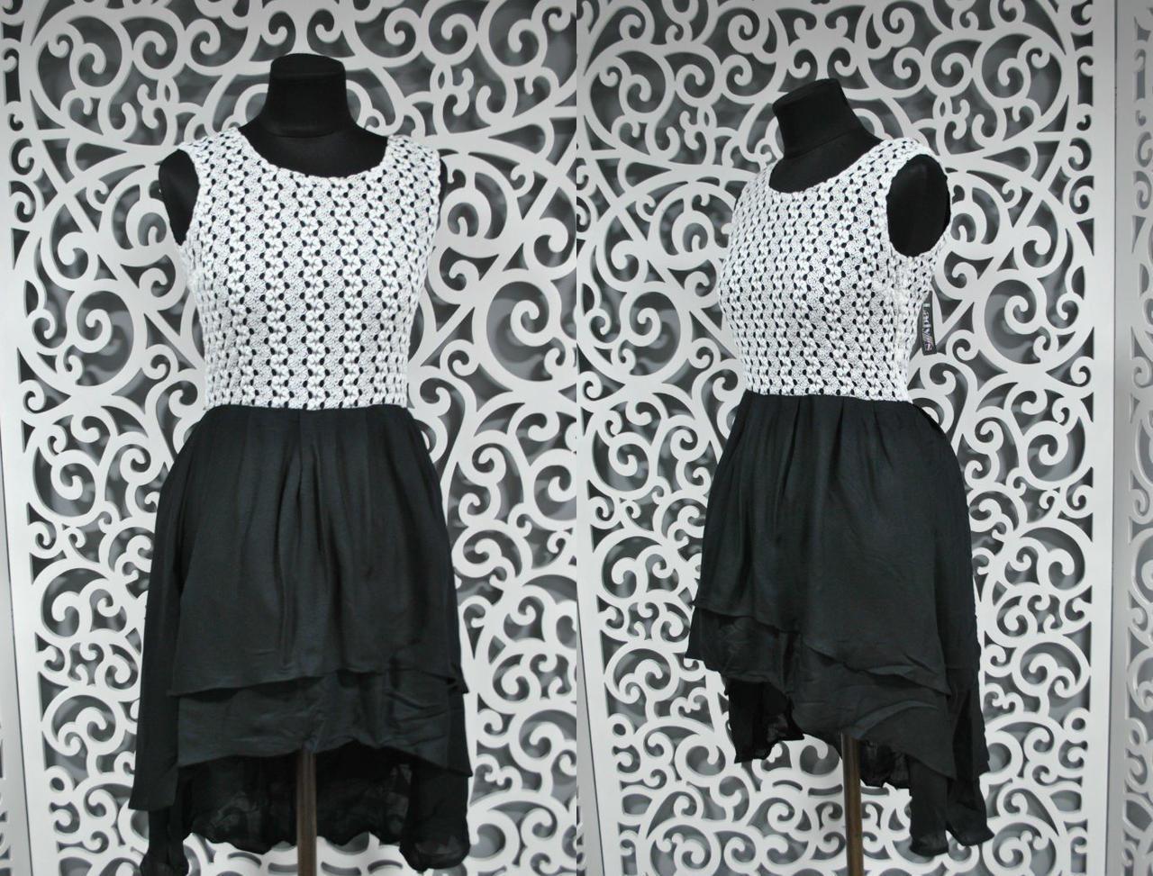 """Воздушное женское платье ткань """"штапель + вязка"""" 42 размер норма"""