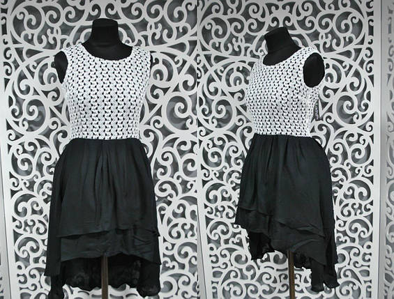"""Воздушное женское платье ткань """"штапель + вязка"""" 42 размер норма, фото 2"""