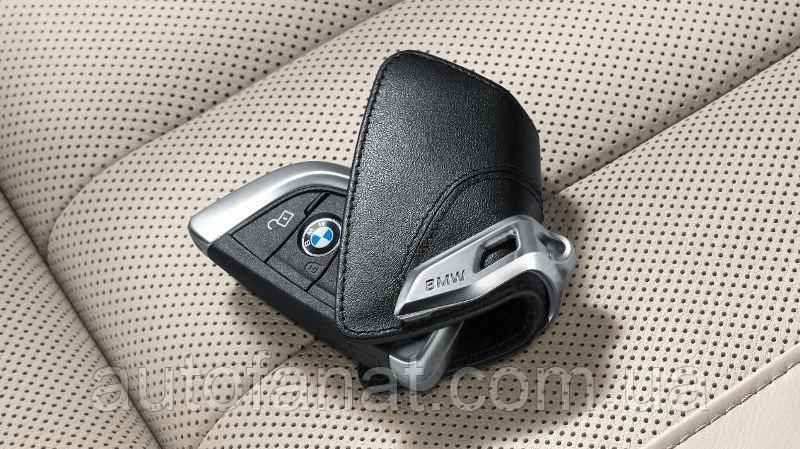 Оригінальний шкіряний футляр для ключів зі сталевим затиском для BMW (82292344033)