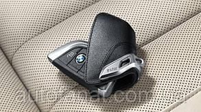 Футляр BMW для ключей со стальным зажимом, оригинальный кожаный (82292344033)
