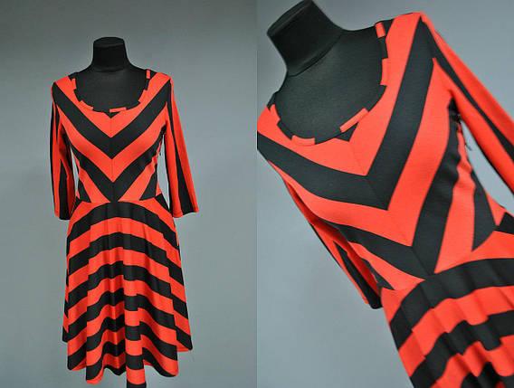 """Стильное женское платье ткань """"Французский трикотаж"""" 42, 44 размер норма, фото 2"""