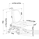 Комплект подростковая парта для школы AmarePink + ортопедическое кресло Buono Pink FunDesk, фото 9