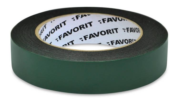Лента двухсторонняя Favorit усиленная черная 25 мм х 5 м (10-467-1), фото 2