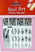 Трафарет для дизайна ногтей (серебро)  405