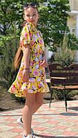 Платье-сарафан для девочки с цветами,ткань супер софт, 3 цвета,рост:134,140,146,152, код 0740, фото 3