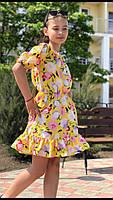 Платье-сарафан для девочки с цветами,ткань супер софт, 3 цвета,рост:134,140,146,152, код 0740, фото 5
