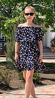 Платье-сарафан для девочки с цветами,ткань супер софт, 3 цвета,рост:134,140,146,152, код 0740, фото 4
