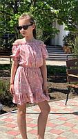 Платье-сарафан для девочки с цветами,ткань супер софт, 3 цвета,рост:134,140,146,152, код 0740, фото 6