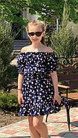 Платье-сарафан для девочки с цветами,ткань супер софт, 3 цвета,рост:134,140,146,152, код 0740, фото 7