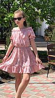 Платье-сарафан для девочки с цветами,ткань супер софт, 3 цвета,рост:134,140,146,152, код 0740, фото 8