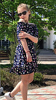 Платье-сарафан для девочки с цветами,ткань супер софт, 3 цвета,рост:134,140,146,152, код 0740, фото 9