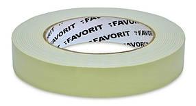 Лента двухсторонняя Favorit усиленная белая 25 мм х 1.5 м (10-490-1)