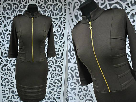 """Изысканное женское платье ткань """"Французский трикотаж"""" 42 размер норма, фото 2"""
