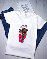 Футболка женская белая. Женская футболка с принтом. ТОП КАЧЕСТВО!!!