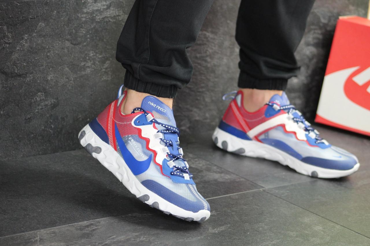 5fd538f3 Мужские кроссовки Nike Undercover X Nike React Element 87 (сине-красные) -  Интернет