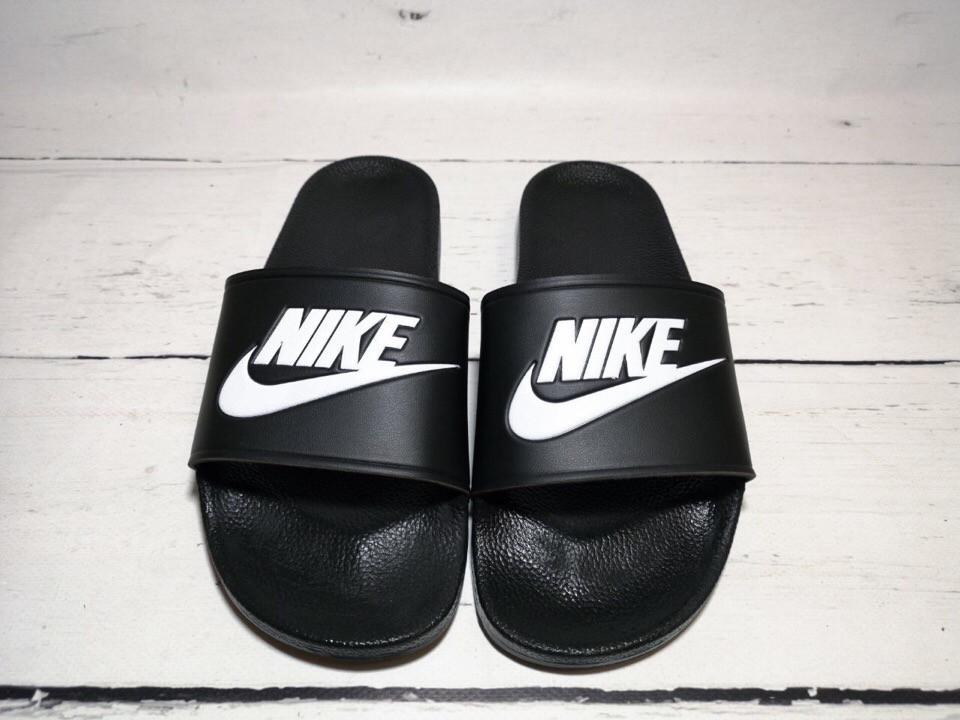Мужские шлепки Nike (черные)