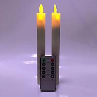 Светодиодные свечи с имитацией пламени тонкие Dancing Flame 210 набор, фото 1