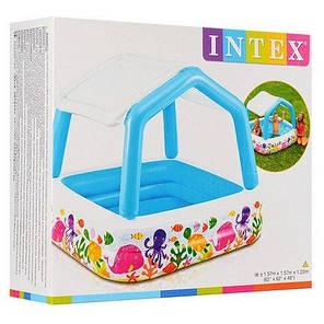 Детский надувной бассейн со съемной крышей Intex 57470, 157х122см, фото 2