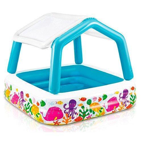 Детский надувной бассейн со съемной крышей Intex 57470, 157х122см
