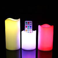 Светодиодные свечи Color Candle пластиковые с пультом управления набор