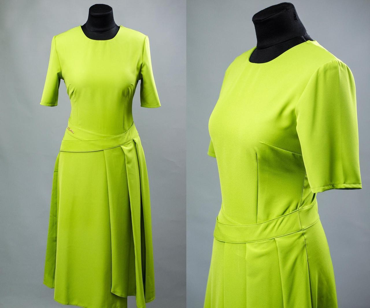 """Стильное женское платье ткань """"хлопок+стрейч костюмная"""" 42 размер норма"""