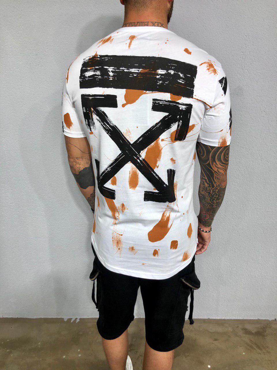 25184a06f028 Мужская футболка Black Island x Off-White ADA1981 White - Компания