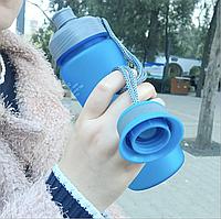 Бутылка спортивная фляга чашка для воды питья эко пластик с фильтром Casno 600 мл