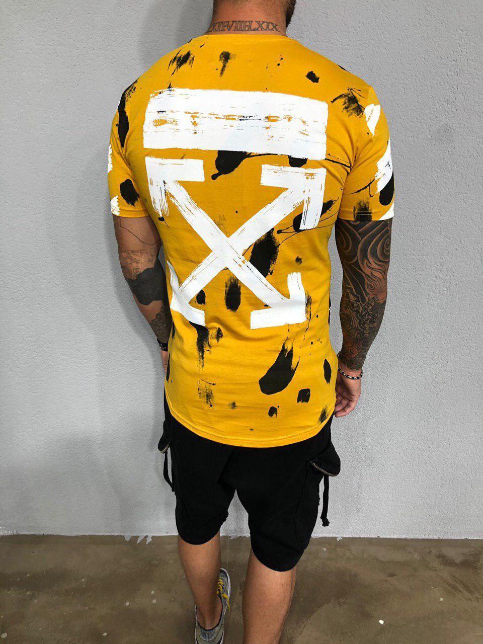 917fa94eb59a Мужская футболка Black Island x Off-White ADA1981 Yellow - Компания