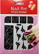 Трафарет для дизайна ногтей (чёрный)