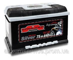 Акумулятор автомобільний Sznajder Silver 75AH R+ 640А (57525)