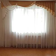 Жесткий  ламбрекен Стайл  светло коричневый, 3м, фото 1