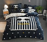 Плюшевое постельное белье микрофибра Homytex Евро размер Meow