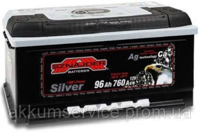 Аккумулятор автомобильный Sznajder Silver 96AH R+ 760А (59625)