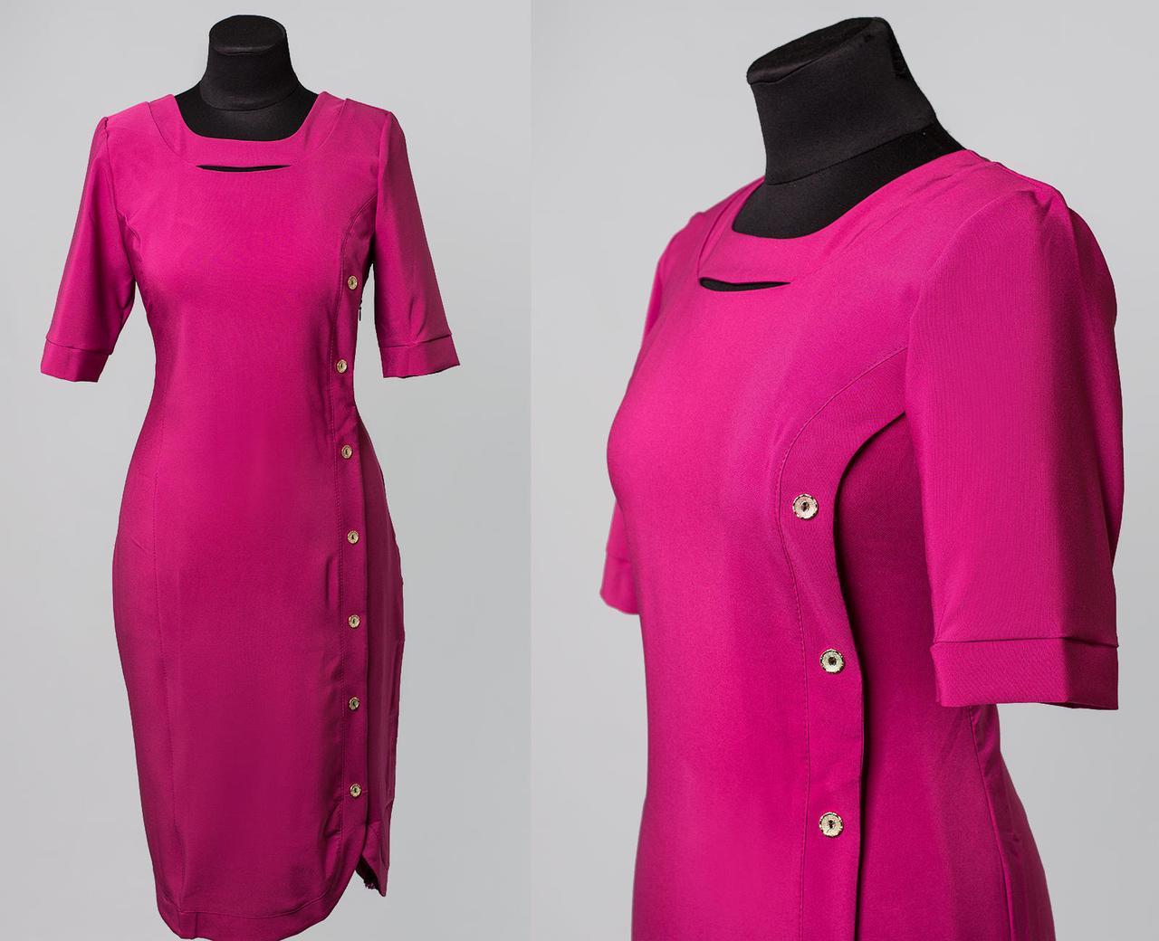 """Волшебное женское платье с ткань """"Костюмная ткань"""" 48 размер батал"""
